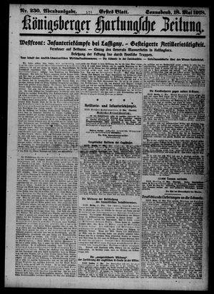 Königsberger Hartungsche Zeitung vom 18.05.1918