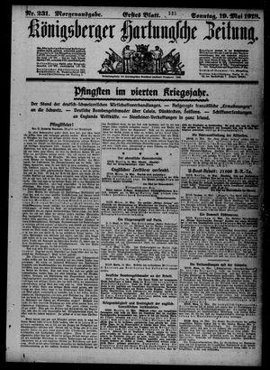 Königsberger Hartungsche Zeitung vom 19.05.1918