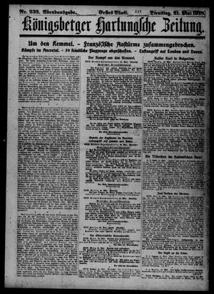 Königsberger Hartungsche Zeitung vom 21.05.1918