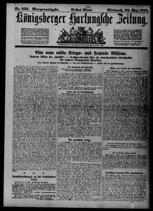 Königsberger Hartungsche Zeitung vom 22.05.1918