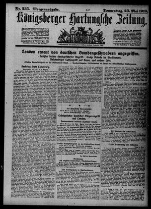 Königsberger Hartungsche Zeitung vom 23.05.1918