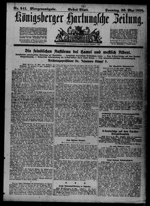 Königsberger Hartungsche Zeitung on May 26, 1918