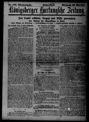 Königsberger Hartungsche Zeitung vom 29.05.1918