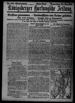 Königsberger Hartungsche Zeitung vom 30.05.1918