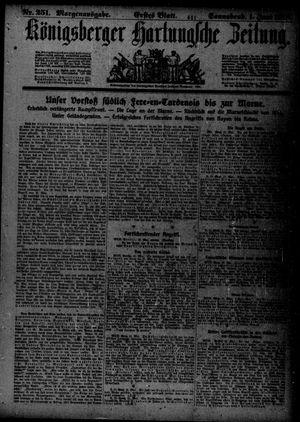 Königsberger Hartungsche Zeitung vom 01.06.1918