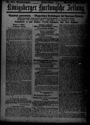 Königsberger Hartungsche Zeitung on Jun 3, 1918