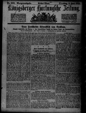 Königsberger Hartungsche Zeitung vom 04.06.1918