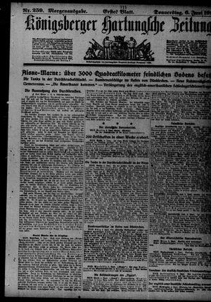 Königsberger Hartungsche Zeitung vom 06.06.1918