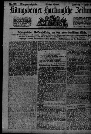 Königsberger Hartungsche Zeitung vom 07.06.1918
