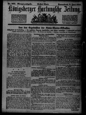 Königsberger Hartungsche Zeitung vom 08.06.1918
