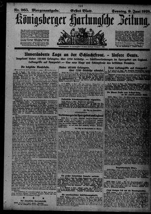 Königsberger Hartungsche Zeitung vom 09.06.1918