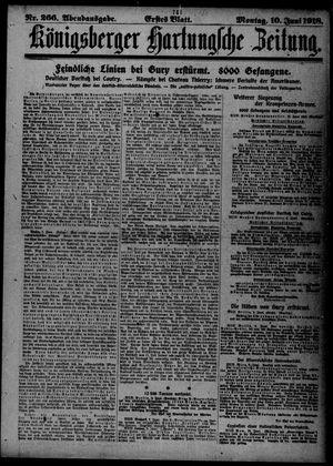 Königsberger Hartungsche Zeitung vom 10.06.1918