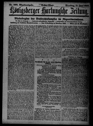 Königsberger Hartungsche Zeitung vom 11.06.1918