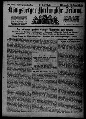 Königsberger Hartungsche Zeitung vom 12.06.1918