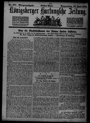 Königsberger Hartungsche Zeitung vom 13.06.1918