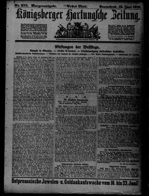 Königsberger Hartungsche Zeitung vom 15.06.1918