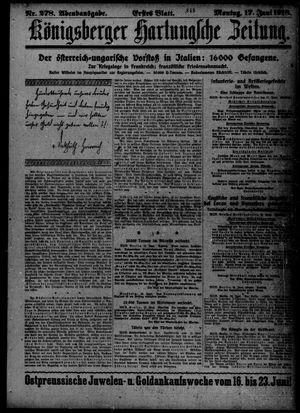 Königsberger Hartungsche Zeitung vom 17.06.1918