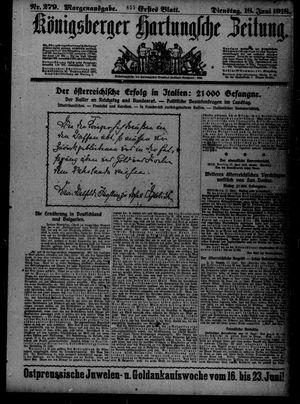 Königsberger Hartungsche Zeitung on Jun 18, 1918
