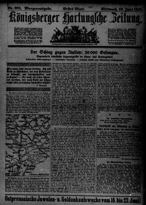 Königsberger Hartungsche Zeitung vom 19.06.1918