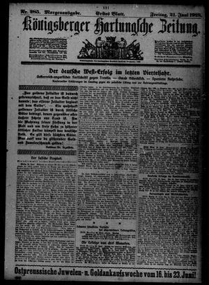 Königsberger Hartungsche Zeitung on Jun 21, 1918
