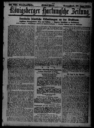Königsberger Hartungsche Zeitung vom 22.06.1918