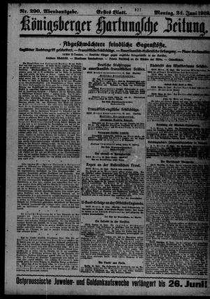 Königsberger Hartungsche Zeitung vom 24.06.1918