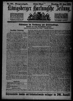 Königsberger Hartungsche Zeitung vom 25.06.1918