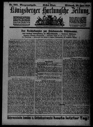 Königsberger Hartungsche Zeitung vom 26.06.1918