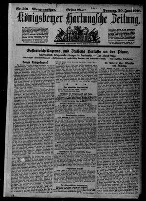 Königsberger Hartungsche Zeitung vom 30.06.1918