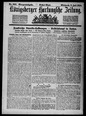 Königsberger Hartungsche Zeitung vom 03.07.1918