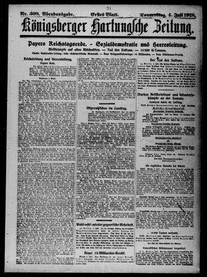Königsberger Hartungsche Zeitung on Jul 4, 1918