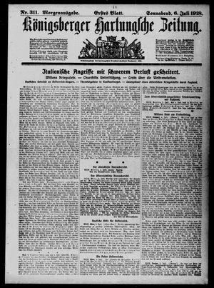 Königsberger Hartungsche Zeitung vom 06.07.1918