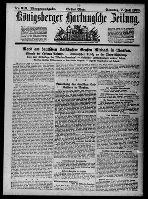 Königsberger Hartungsche Zeitung on Jul 7, 1918