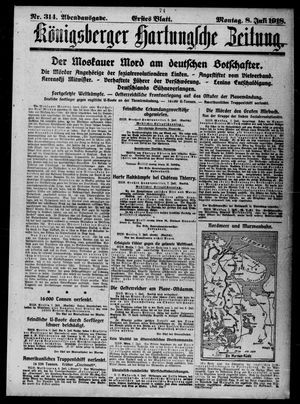 Königsberger Hartungsche Zeitung vom 08.07.1918