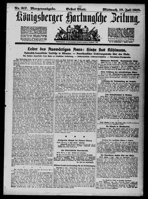 Königsberger Hartungsche Zeitung on Jul 10, 1918