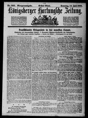 Königsberger Hartungsche Zeitung on Jul 14, 1918