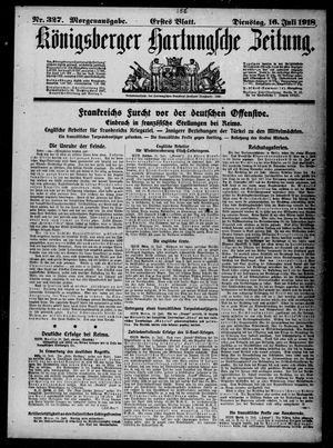 Königsberger Hartungsche Zeitung vom 16.07.1918