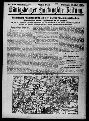 Königsberger Hartungsche Zeitung vom 17.07.1918