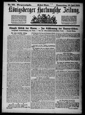 Königsberger Hartungsche Zeitung vom 18.07.1918