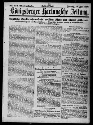 Königsberger Hartungsche Zeitung vom 19.07.1918