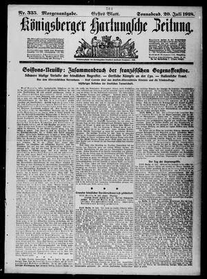 Königsberger Hartungsche Zeitung vom 20.07.1918