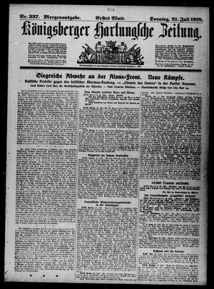Königsberger Hartungsche Zeitung vom 21.07.1918