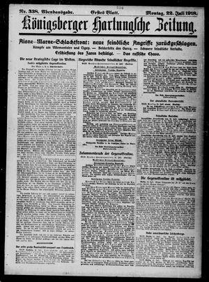 Königsberger Hartungsche Zeitung vom 22.07.1918