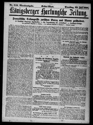Königsberger Hartungsche Zeitung vom 23.07.1918