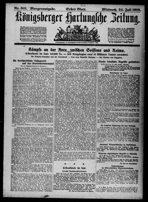 Königsberger Hartungsche Zeitung vom 24.07.1918