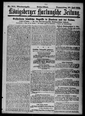 Königsberger Hartungsche Zeitung vom 25.07.1918