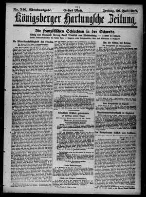 Königsberger Hartungsche Zeitung vom 26.07.1918