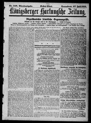 Königsberger Hartungsche Zeitung vom 27.07.1918