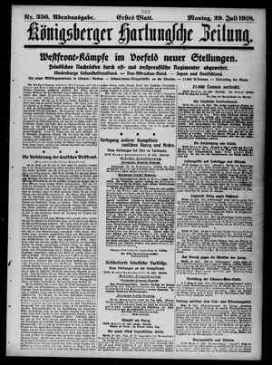Königsberger Hartungsche Zeitung vom 29.07.1918