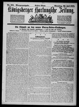 Königsberger Hartungsche Zeitung vom 30.07.1918